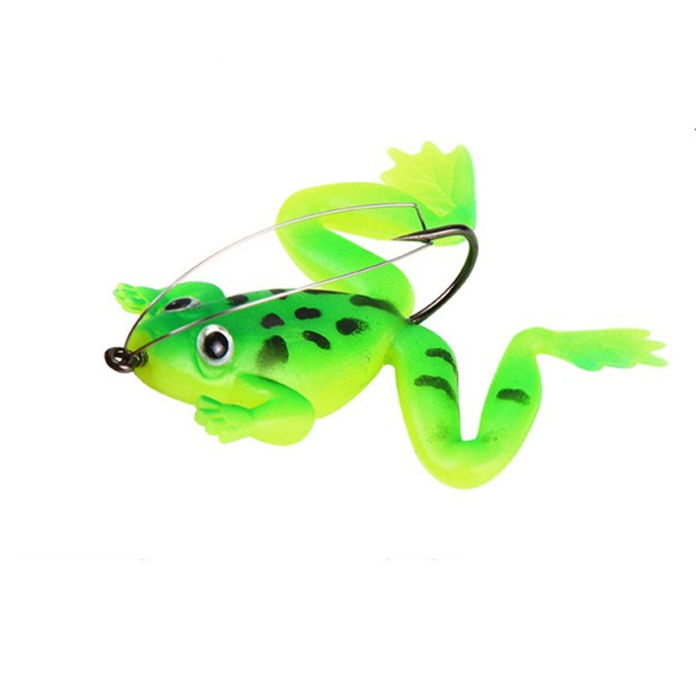 1pcs Frog Fishing Lure 6cm 5.2g Silicone Soft Bait 3 Colors Artificial Frog Fishing Bait with Hook Pesca Fishing Tackle