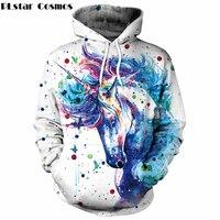 YX GIRL Hoodies 2018 Colorful Ink Horse 3D Hoodie Sweatshirts Men/Women Casual Pullover Hooded Hoody Dropship