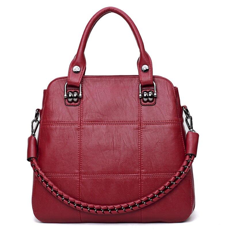 Women Handbag Large Capacity Shoulder Crossbody Bags for Women 2018 brand Simple design handbags Soft PU Leather big Totes sac