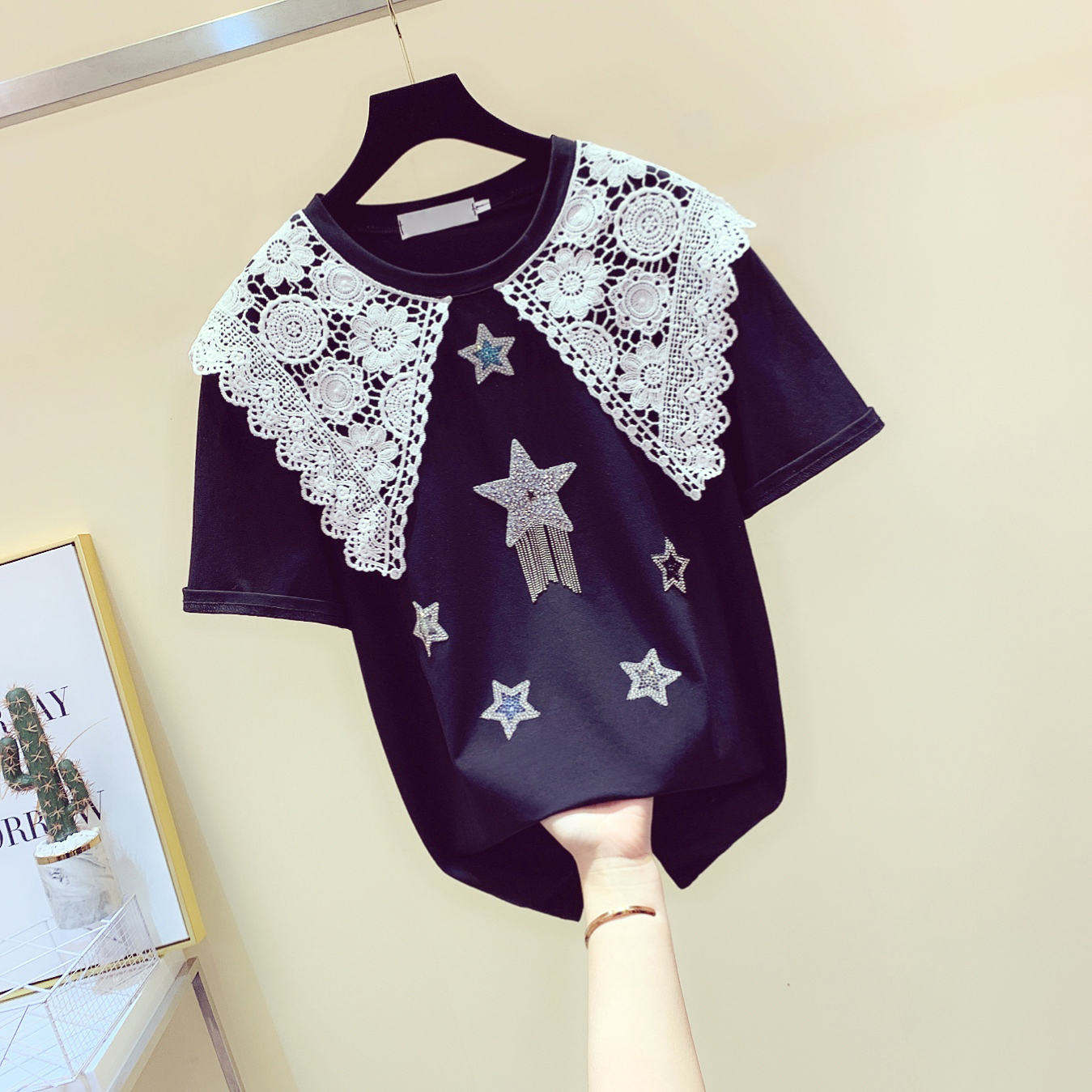 Capable 2019 Hot Selling Blouse Women Button Five-pointed Star Hot Drill Plus Size Tops Blouse Temperament Cozy Blouse Vetement Femme Low Price Blouses & Shirts