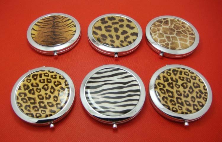 Genossenschaft 100 Pcs Tier Druck Kompakte Spiegel Zebra Streifen Bilden Spiegel Tigrina Spiegel Schminkspiegel Dhl & Fedex Kostenloser Versand
