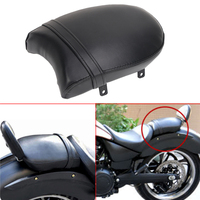Black Motorcycle Leather Rear Passenger Cushion Pillion Seat Pad Screw Mounting For Victory High Ball Vegas
