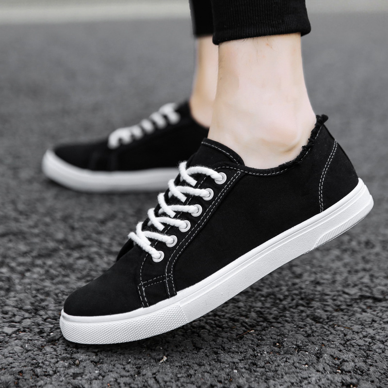 Summer Student Canvas Shoes Male Student Trend Small White Shoes Permeability College Wind Sports Leisure Male Shoes Wholesale
