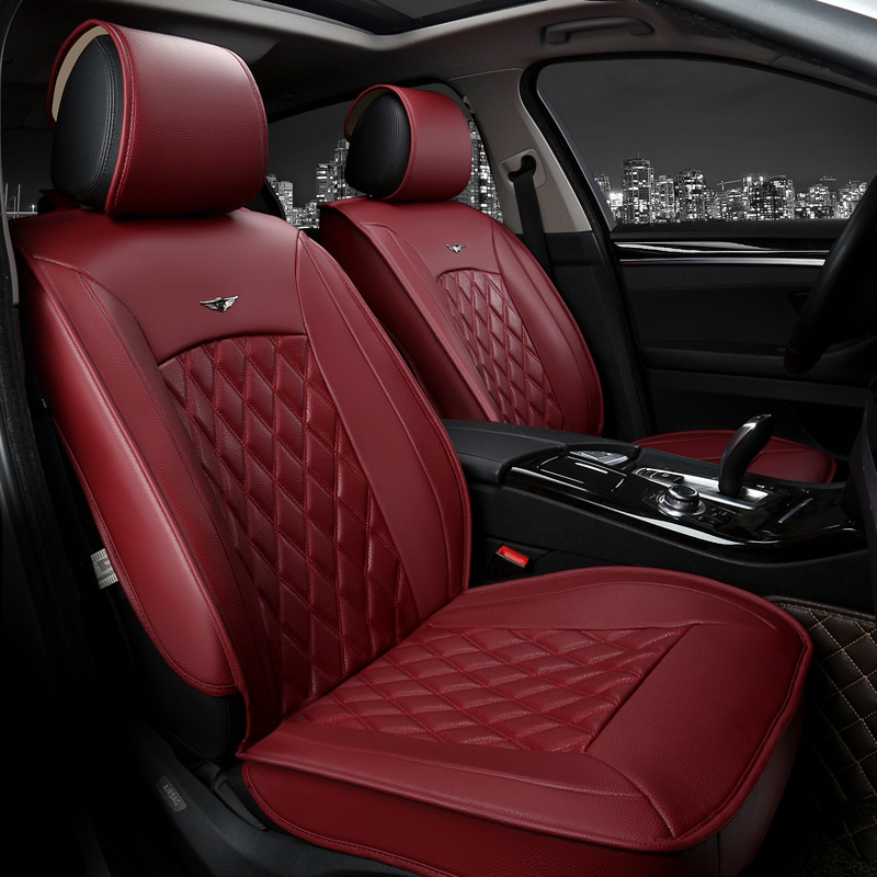 6 colors luxury leather car seat cover universal sport car seat covers whole surrounded car. Black Bedroom Furniture Sets. Home Design Ideas