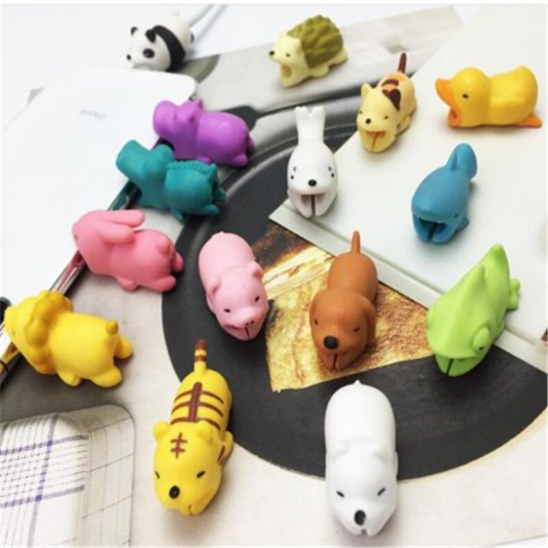 1 Pcs Animal Cable Bites Protector For Phone Protege Cable Buddies Cartoon Cable Bites Kabel Diertjes Phone Holder Accessory