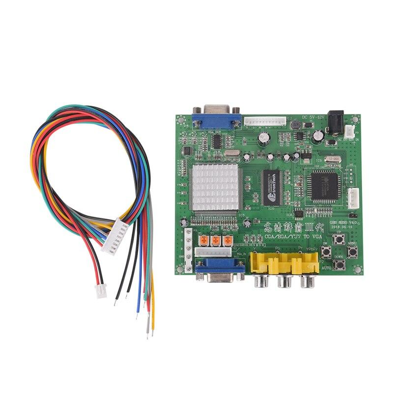 US $17 63 21% OFF|1pc Arcade Game RGB/CGA/EGA/YUV To VGA HD Video Converter  Board HD9800/GBS8200 Hot Green Board on Aliexpress com | Alibaba Group
