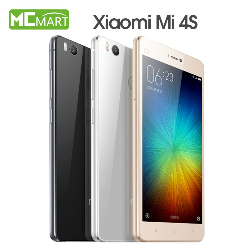 Original Xiaomi Mi4s font b smartphone b font Mi 4s 5 0Inch MIUI 7 Snapdragon808 4G