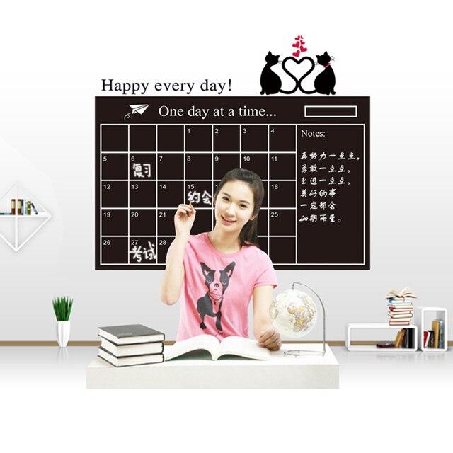 Calendar Blackboard Cat Love Sticker 4