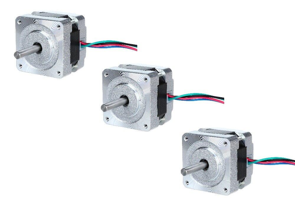 12V 3 axis nema 16 stepper motor 34mm ,0.42A ,22N.CM 16HS3404P1 CE,ROHS