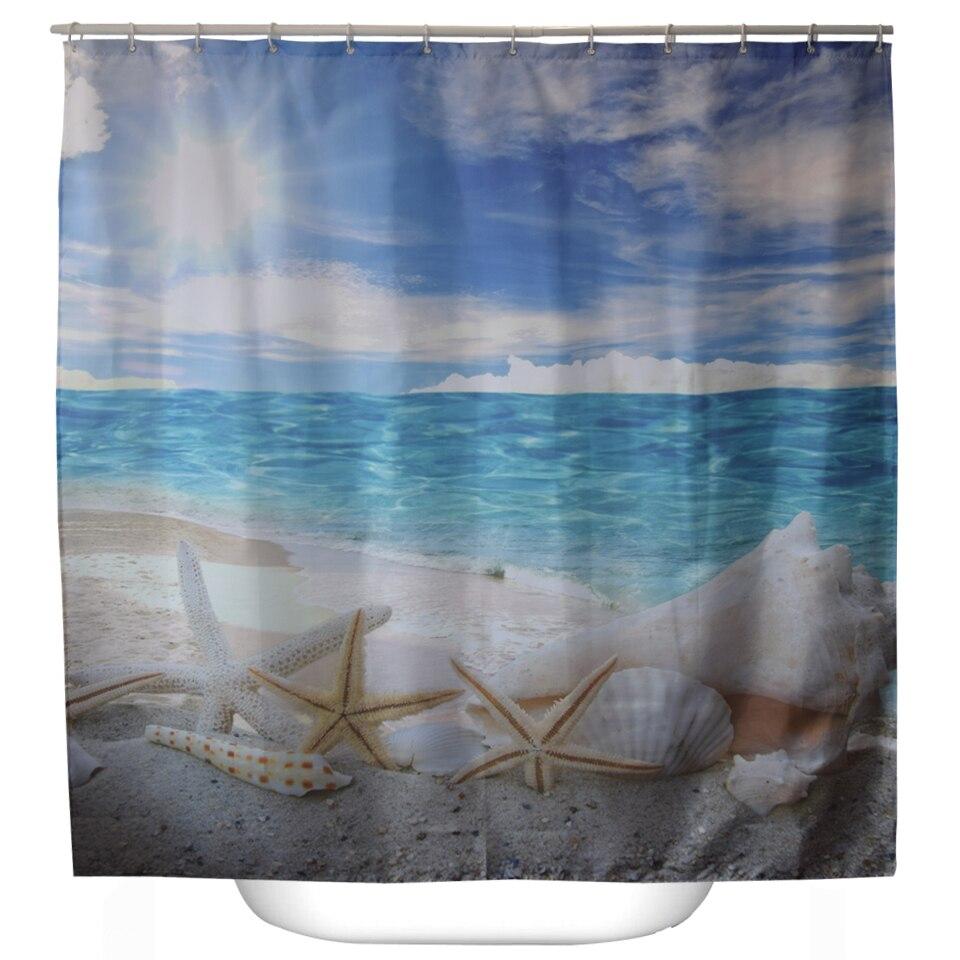 Svetanya Mar Imprimir Scenic Cortinas De Ducha Productos de Baño Decoración Cuar
