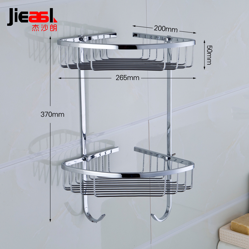 Aliexpress.com : Buy Jieshalang Brass Bathroom Shelves Corner Shower ...