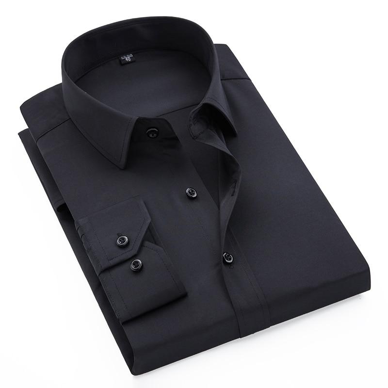 100% Wahr Neue Männer Hemden Männer Langarm Slim Fit Business Hemden Männer Stilvolle Mode Freizeithemd Camisa Masculina Moderater Preis