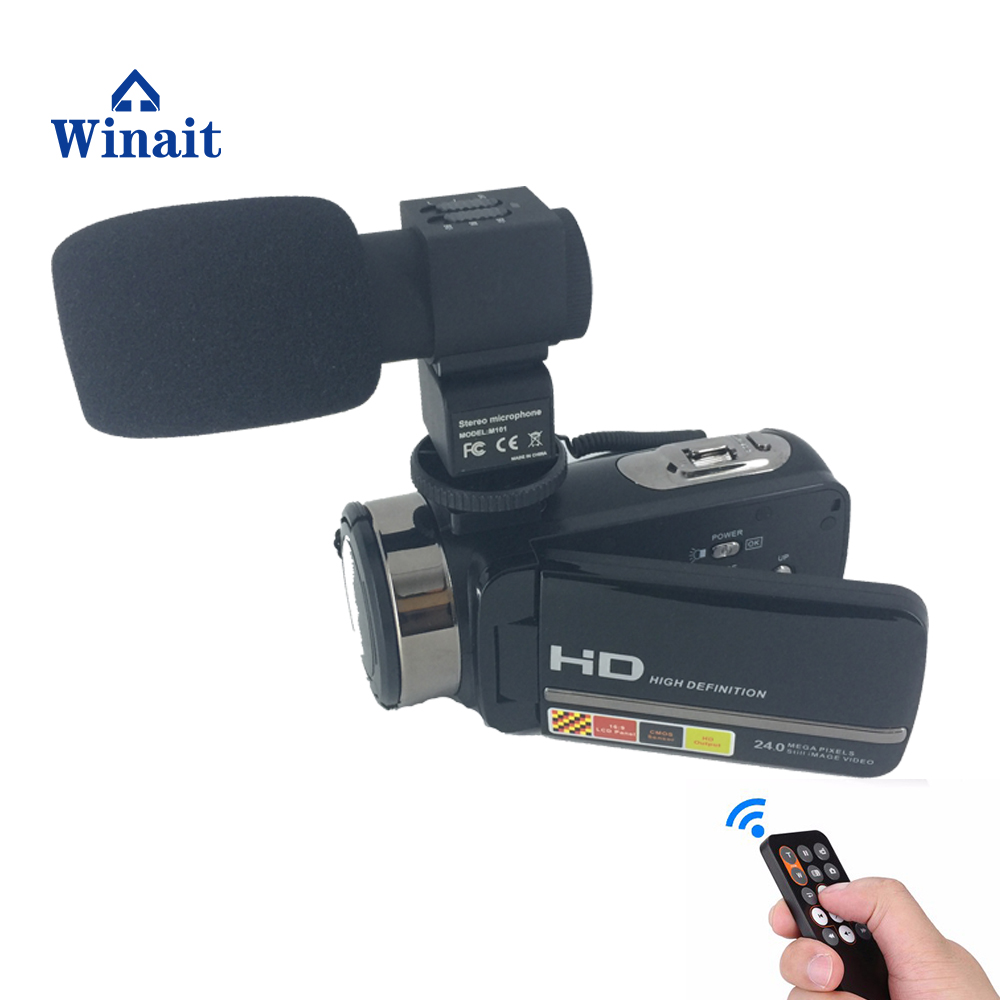 2017 popular Professional HDV Night Vision Recorder Camcorder full hd 1080p 24mp Remote Control mini camera digital video camera