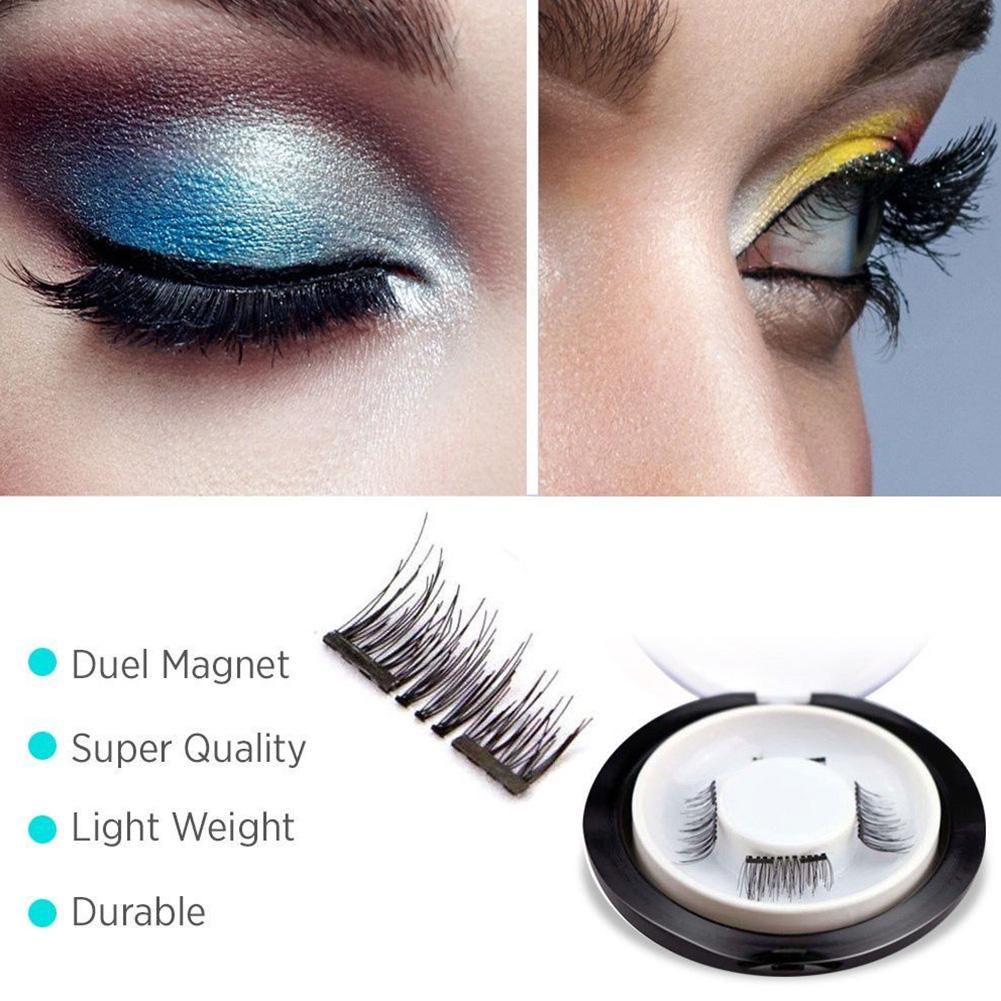 1a8ac95205a 4pcs 3D Double Magnetic Eyelashes Eye Makeup Kit Thick Good Quality  Magnetic Handmade False Eyelashes Dropship-in False Eyelashes from Beauty &  Health on ...