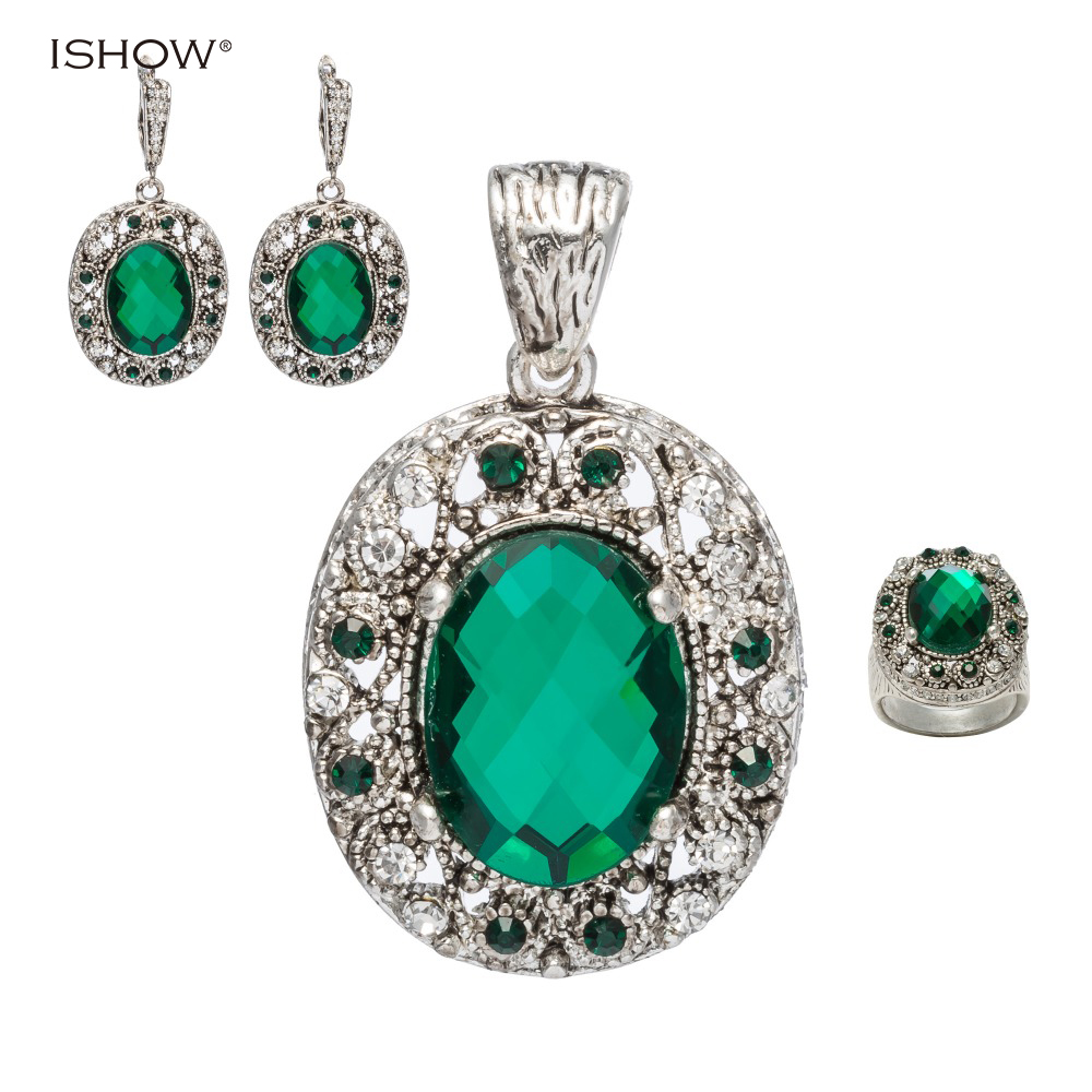 Luxury Silver Crystal Jewelry Sets For Women Fashion Jewellery&Jewerly Rhinestone Bridal Wedding Jewelry Sets For Christmas Gift