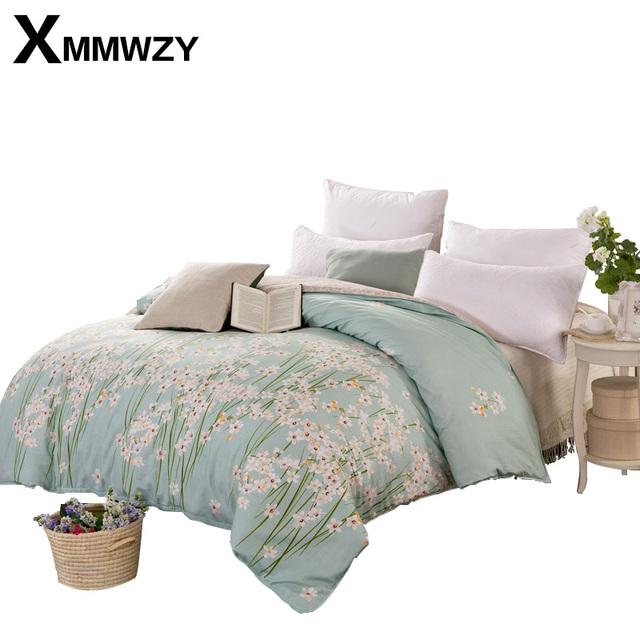 100 Cotton Past Printing Duvet Cover High Quality Bedding Set Quilt Super King Size