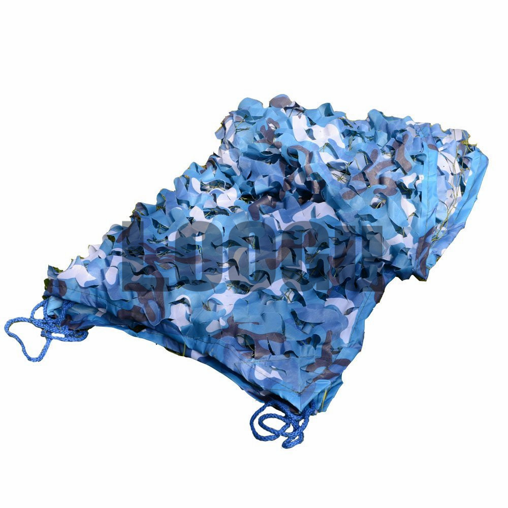 VILEAD 3M*3M Sea Blue Military Camouflage Netting decoration Ocean Blue Camo net sun shade net Hunting Net loogu em 3m 4m blue camo netting sea ocean camouflage netting ship covering tent decoration camouflage net