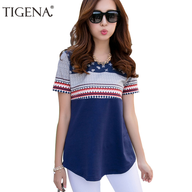 TIGENA Summer T Shirt Women 2017 Short Sleeve T-shirt Female Plus Size 4XL T-shirt Women Graphic Tops Tee Shirt Femme Tshirt