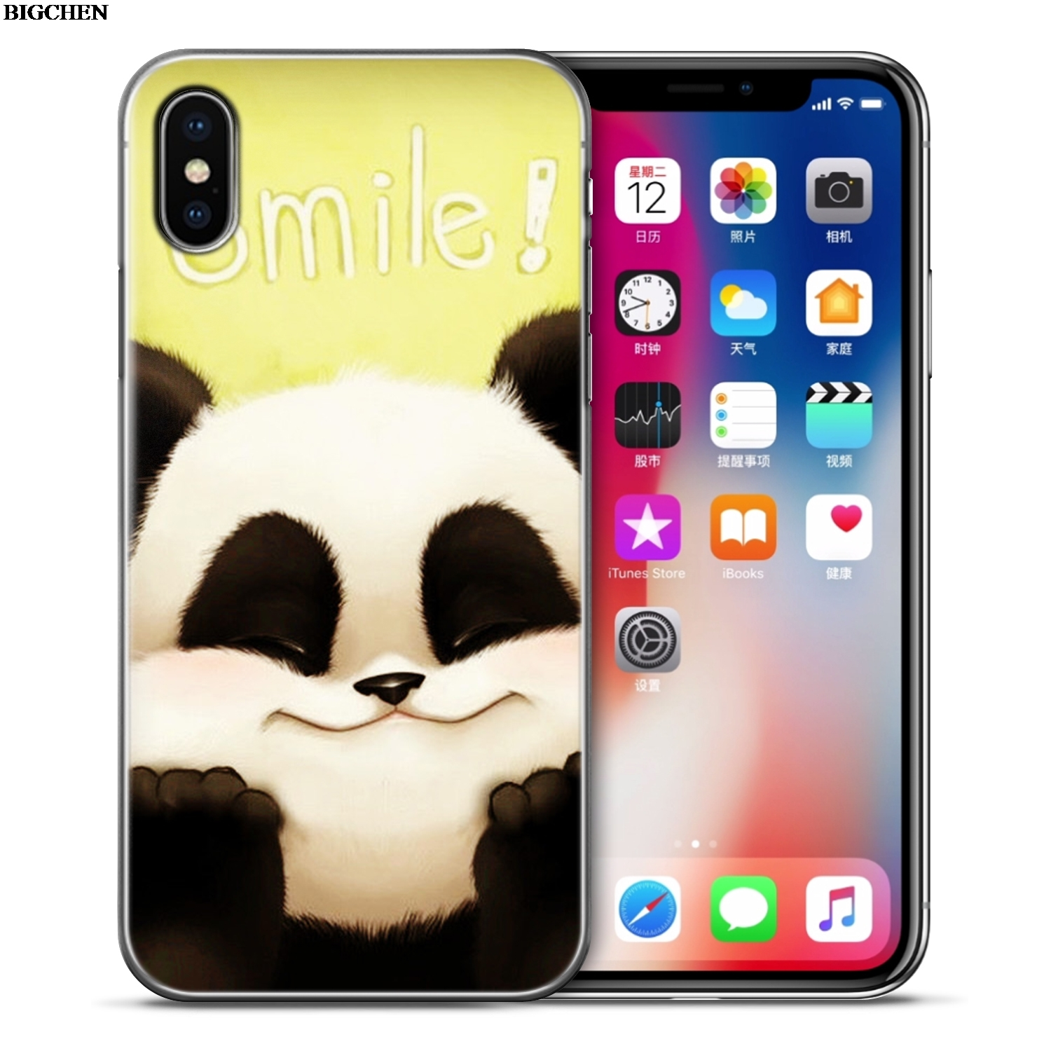 For Apple Iphones XS Max XR 6 6S 7 8 Plus X Case Cute Panda Soft Silicone For Iphone 5S 5 SE 6 S 7 8 Plus Phone Shell