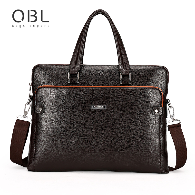 QiBoLu Handbags Men Bags Briefcase Crossbody Shoulder Bag Man for Business Laptop Sacoche Homme Bolsa Masculina MBA5916 cow genuine leather messenger bags men casual travel business crossbody shoulder bag for man sacoche homme bolsa masculina