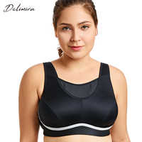 Women's Plus Size High Impact No-Bounce Full Coverage Wire Free Exercise Bra