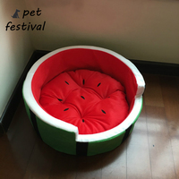 Pet Festival Watermelon Shape Cotton Warm Small Cat Dog Pet House Sofa Bed Kennel Puppy Mat Cushion Nest Pet Nest