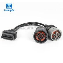 Y J1939 кабель OBD2 16pin мама к J1708 6pin и J1939 9pin сплиттер Y Deutsch j1939 Соединительный кабель для грузового кабеля