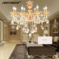 Free 6 E14 LED Lamps Factory Wholesale Cheap Crystal Chandelier Modern Rectangular Gold Crystal Chandelier