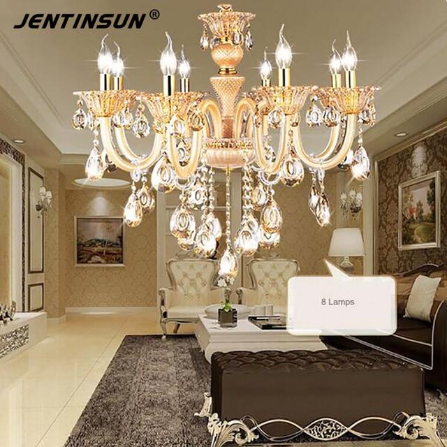 Luxury brand jentinsun e14 led 220v lamps clear crystal chandelier luxury brand jentinsun e14 led 220v lamps clear crystal chandelier modern rectangular gold rhinestone chandelier lighting aloadofball Images