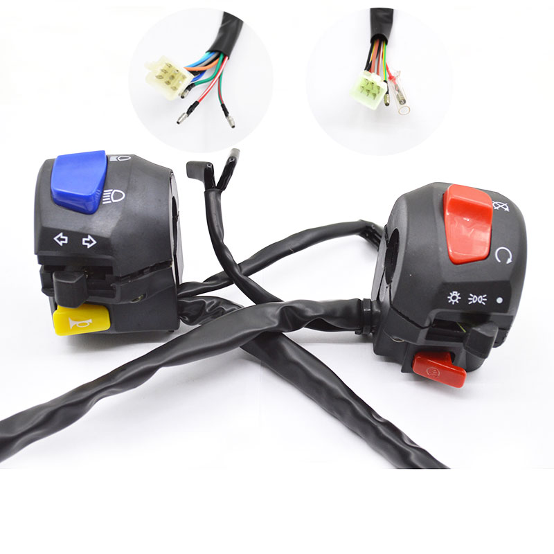 Motorcycle Handlebar Switch Assy Assembly For Suzuki GS125 GN125 GS GN 125 цена