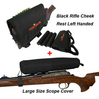Tourbon Black Scope Cover Rifle Buttstock Cheek Pad Neoprene Adjustable Left Handed For Hunting Gun Accessories