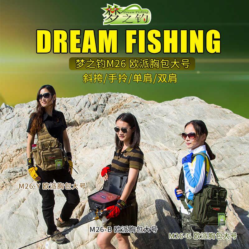 Dream Fishing большая емкость Рыболовная Сумка 14*24*29 см Водонепроницаемая 1200D нейлоновая привлекательная сумка рюкзак Mochila Bolsa De Pesca инструменты