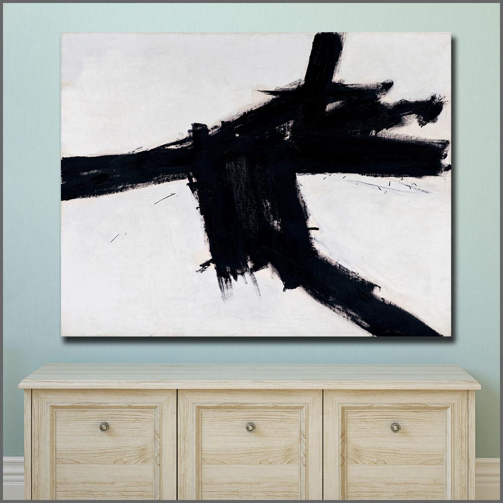 Large Size Oil Painting Franz Kline Buttress 1956 Wall Art Canvas Prints Pictures For Living