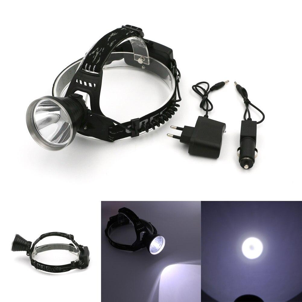 Rechargeable Spotlight Head Light 4 Modes Head Lamp Led 2000LM Headlamps Headlights Lamp Flashlight Use 18650 +AC/Car Charger