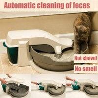 Электрический Кот автоматический туалет очистки кошки навоз полузакрытый туалетов пластиковый горшок Mascotas кошачьих туалетов коробка туал