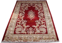 Thick And Plush European Savonnerie Rug Antique Chinese Hand made Wool Wall Art Geometric Antique Wool Rug Carpet