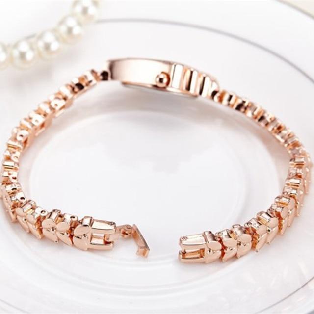 Bracelet Luxury Rhinestone Gold Watch 4