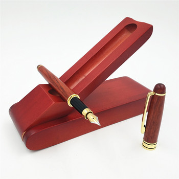 Fountain or Roller or Ball Pen Redwood Vintage Signature Pen Set Boutique Creative Wooden Stationery Gifts 2pcs luxury monte mount chocolate leather pen case for only one fountain pen or roller ball pen free shipping