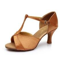 Новые женские бальные танго латинские танцевальные туфли PU атласные танцевальные каблуки Сальса обувь 5 см/см 7 см Высота каблука