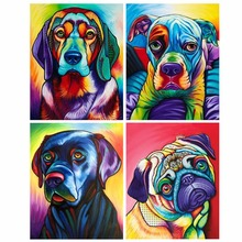 Dog DIY 5D Full Drill Diamond Painting Embroidery Cross Stitch Kit Rhinestone Home Decor Craft Christmas chicken diy 5d round full drill diamond painting embroidery cross stitch kit rhinestone home decor craft christmas gifts