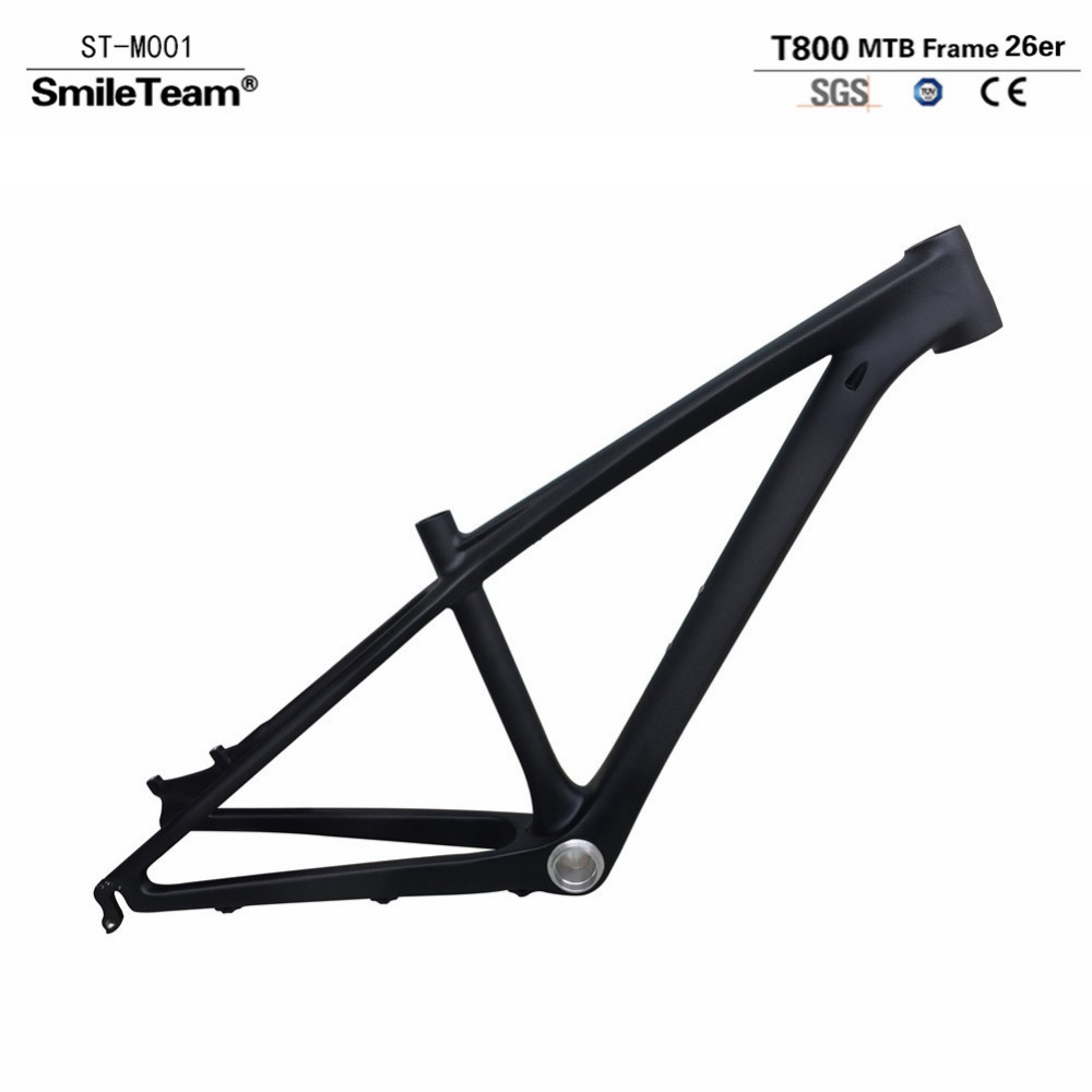 SmileTeam Ultralight T800 Carbon MTB Frame 26er 14inch Carbon Mountain Bike Frame 3k Matte 135*9mm Standard QR Bicycle Frame smileteam new carbon mtb frame 27 5er mountain bicycle frameset 650b 135 9mm carbon frame ud matte or glossy frame headset clamp