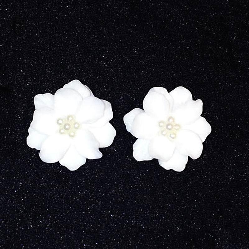 Classics Big White Flower kõrvarõngad naistele Fashion Jewelry - Mood ehteid - Foto 2