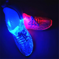 Size 25 46 New Led Fiber Optic Shoes For Girls Boys Men Women USB Recharge Glowing Sneakers Man Light Up Luminous Party Shoes