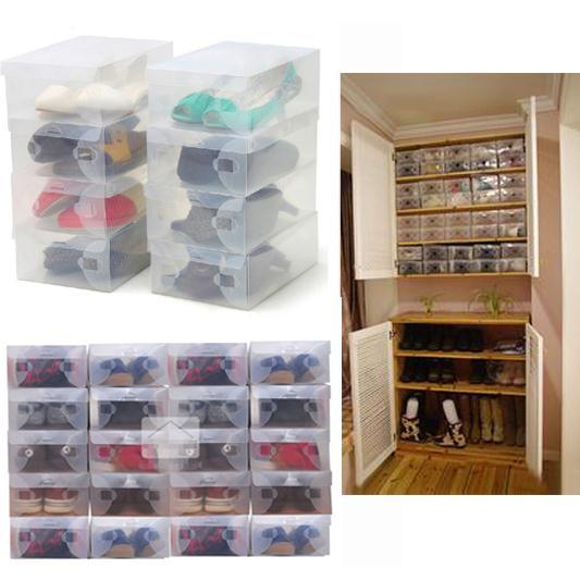 Online kaufen gro handel stapelbare box aus china - Cajas transparentes para zapatos ...