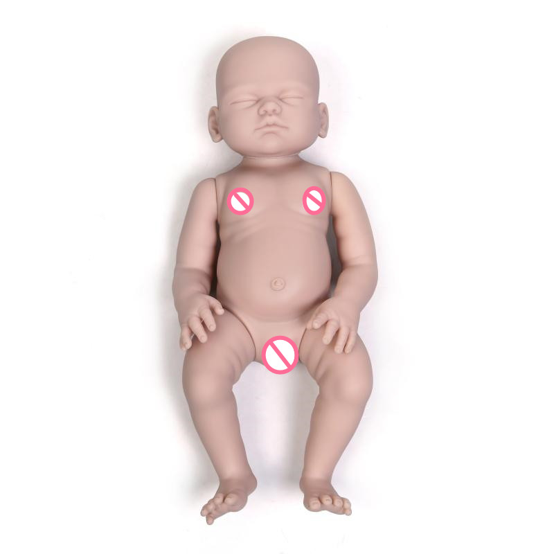 wholesale full body soft Silicone vinyl reborn babies unpainted doll kit 50cm unfinished doll kits DIY Accessories Art work bebe npkcollection reborn doll kit wholesale unpainted blank doll kit soft vinyl reborn full vinyl body dakota