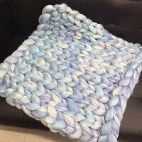 1000g Super Chunky Yarn Merino Wool Yarn Giant Roving Spinning Polyester Blanket Yarn DIY Arm Knitting Blankets Sweaters Scarves