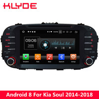 KLYDE 8'' 4G Octa Core PX5 Android 8.0 4GB RAM 32GB ROM BT Car DVD Multimedia Player Radio GPS Navigation For Kia Soul 2014 2018