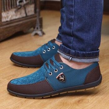 GOXPACER/Осенняя мужская обувь на плоской подошве, парусиновая обувь на шнуровке, дышащая повседневная обувь, тонкие туфли на плоской подошве, М...