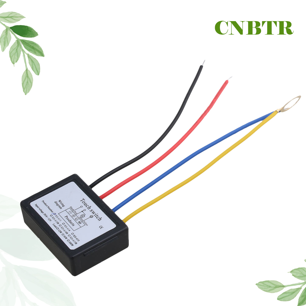 small resolution of cnbtr xd 613 on off touch switch 6 12v dc for led lamp diy accessories