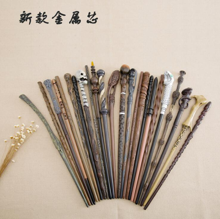 Colsplay Metal/Iron Core Posey/Carlo/Bella/Nigel Weasley Magic Wand Najini Snake Stick Potter Magic Magical Wand Gift Box